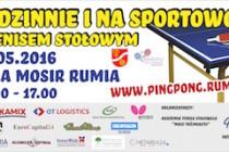 Rodzinnie i na sportowo z tenisem stołowym – 29 maja 2016 r. – Hala MOSIR Rumia