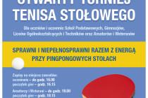Sprawni i niepełnosprawni razem z ENERGĄ przy pingpongowych stołach – 8 czerwca 2016 r. Hala MRKS Gdańsk od godz. 16.