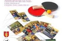 Gdyńskie spotkania z tenisem stołowym – 25 wrzesień 2016 r. Sala Sportowa SP 28 w Gdyni ul. Zielona 53 -godz.9.00