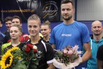 Powitanie Natalii Parytki i Patryka Chojnowskiego w Centrum Szkolenia Polskiego Związku Tenisa Stołowego w Gdańsku