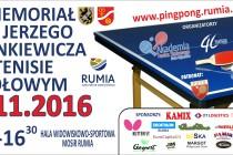 II Memoriał im. Jerzego Zienkiewicza w tenisie stołowym – Rumia – 6 listopada 2016 r.