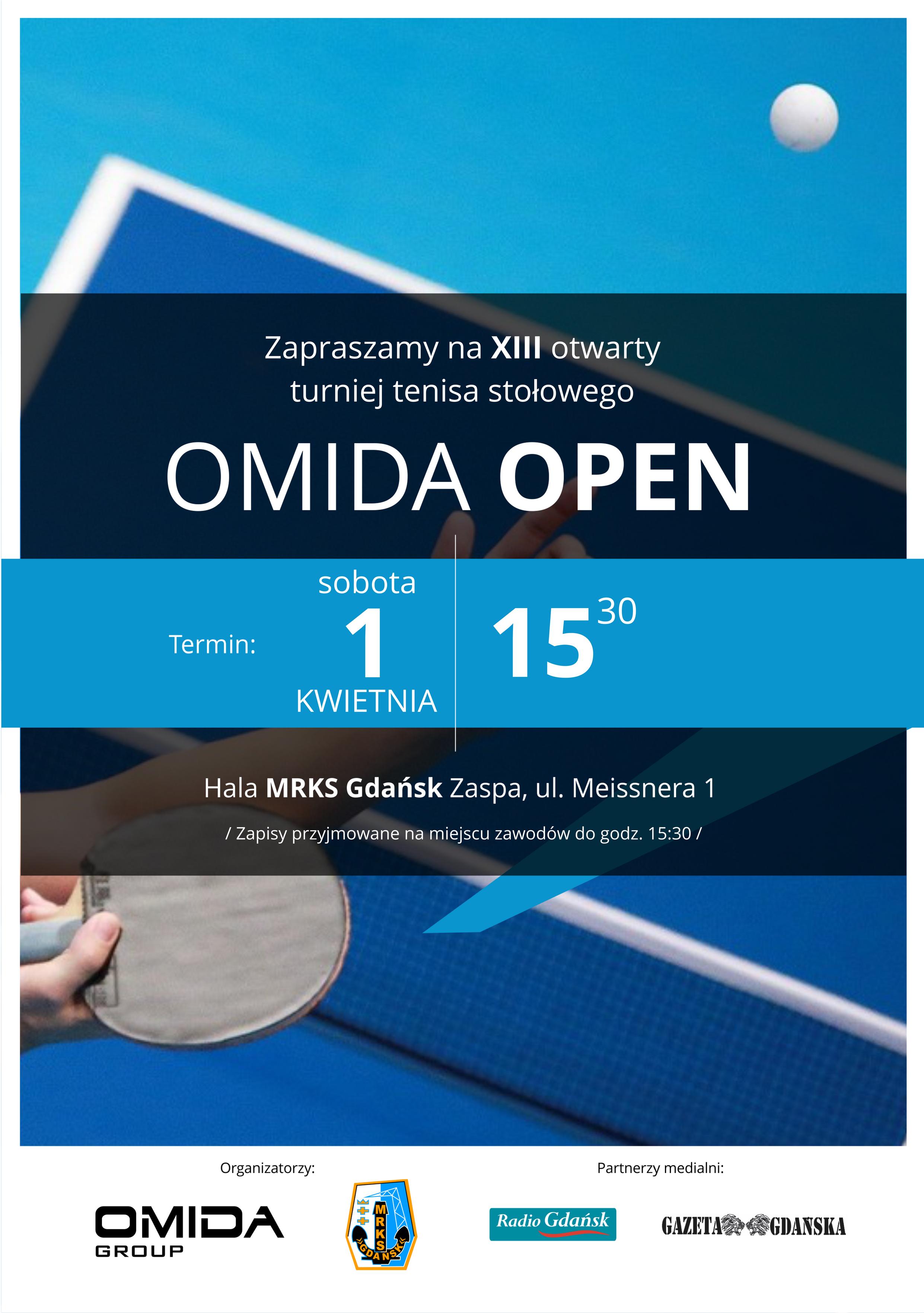Zapraszamy na XIII otwarty turniej tenisa