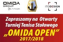 """Klasyfikacje po II Turnieju """"OMIDA OPEN 2017/2018"""" – kolejny turniej już 14.10. br"""