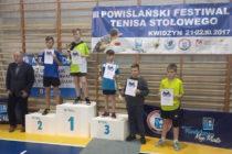 Zuzanna Czaja /MRKS Gdańsk/ i Krzysztof Bohn/ATS Małe Trójmiasto Rumia/ zwyciężcami III Powiślańskiego Festiwalu Tenisa Stołowego w kategorii młodzików