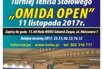 """V """"OMIDA OPEN"""" – 11 listopada 2017 r. godz. 15.40 Hala MRKS Gdańsk"""