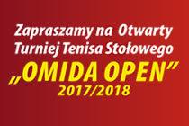"""XII """"OMIDA OPEN"""" – turniej tenisa stołowego dla amatorów i weteranów – sobota 24 lutego 2018 r. 15.40; hala MRKS Gdańsk"""