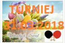 Wielkanocny Turniej Tenisa Stołowego – 31 marca 2018 r. godz. 9.00 – Subkowy
