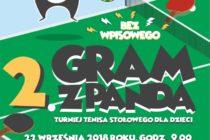 """""""GRAM Z PANDĄ"""" – turniej tenisa stołowego dla dzieci w Sierakowicach"""