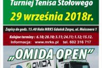 """II Turniej """"OMIDA OPEN"""" dla amatorów i weteranów – 29 września/sobota/ 2018 r. godz. 15.40 -Hala MRKS Gdańsk"""