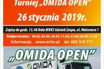 """X """"OMIDA OPEN"""" – turniej dla amatorów i amatorów – 26 stycznia 2019 r. (sobota) – 15.40 – Hala MRKS Gdańsk"""