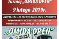 """XI """"OMIDA OPEN"""" – turniej dla amatorów i weteranów – 9 lutego 2019 r. godz. 15.40 ; Hala MRKS Gdańsk"""