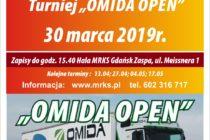"""13. Turniej tenisa stołowego """"OMIDA OPEN"""" dla amatorów i weteranów – 30 marca (sobota) 2019 r. -zapisy do 15.40"""